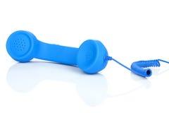 Blue vintage telephone Royalty Free Stock Photography