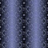 Blue vintage wallpaper seamless pattern. Blue vintage wallpaper floral motif seamless pattern Royalty Free Stock Photo