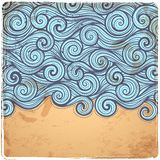 Blue Vintage Waves illustration Royalty Free Stock Photography