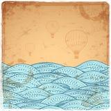 Blue Vintage Waves illustration Royalty Free Stock Photo