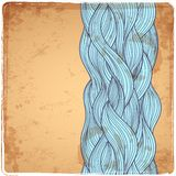 Blue Vintage Waves illustration Royalty Free Stock Image