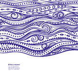 Blue Vintage Waves illustration Royalty Free Stock Photos