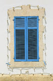 Blue vintage window Royalty Free Stock Photography