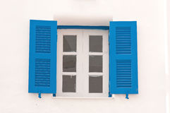 Blue vintage windows Royalty Free Stock Photos