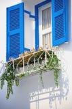 Blue vintage windows Royalty Free Stock Photo