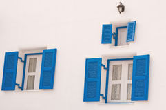 Blue vintage windows Stock Image