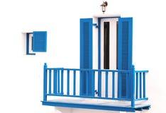Blue vintage windows Stock Photos