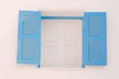Blue vintage windows Stock Photography