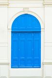 Blue vintage windows Stock Images