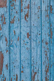 Blue vintage wood background with peeling paint Royalty Free Stock Images