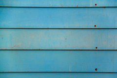 Blue Vintage Wood Wall Stock Photography