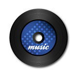 Blue vinyl disc Royalty Free Stock Images