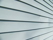 Blue Vinyl Siding Royalty Free Stock Photo