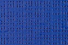 Blue vinyl texture. Embossed vinyl texture closeup texture background Royalty Free Stock Photos