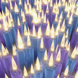 Blue, violet candles, vintage style Stock Photo