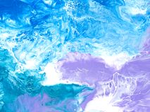 Blue and violet creative abstract hand painted background, marble texture. Fragment of acrylic painting on canvas. Modern art. Contemporary art royalty free stock photo