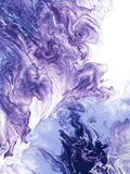 Blue and violet abstract creative hand painted background. Blue and violet creative abstract hand painted background, wallpaper, texture, close-up fragment of Royalty Free Stock Photography