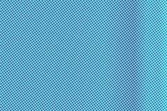 Blue violet dotted halftone. Vertical frequent dotted gradient. Half tone background. Artificial texture. Violet dots on cyan backdrop. Vivid pop art design vector illustration
