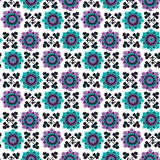 Blue and violet floral seamless pattern Stock Image