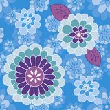 Blue violet flower pattern Royalty Free Stock Photo