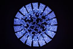 Blue Violet Luxury Crystal Lamp Stock Photo