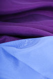 Blue and violet textile Stock Photo