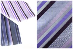 Blue and violet tie Royalty Free Stock Photography