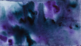 Blue violet watercolor abstraction Royalty Free Stock Image