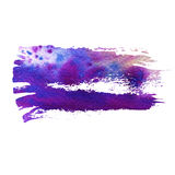 Blue and violet watercolor brush strokes. With space for your own text. Wet brush stroke on paper texture. Dry brush strokes. Abstract composition for design vector illustration