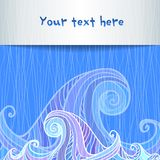 Blue and violet waves background Royalty Free Stock Image