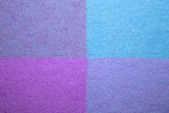 Blue and violet wool plaid texture macro shot Royalty Free Stock Image