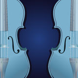 Blue violin background Royalty Free Stock Image