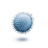 Blue virus . Blue virus on white background Royalty Free Stock Photos