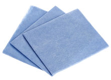 Blue viscose kitchen  (tissue) Stock Image