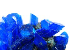 Blue vitriol mineral Royalty Free Stock Photos