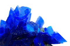Blue vitriol mineral isolated Royalty Free Stock Images