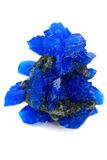 Blue vitriol mineral isolated Royalty Free Stock Photos