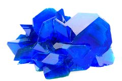 Blue vitriol mineral isolated Stock Photography