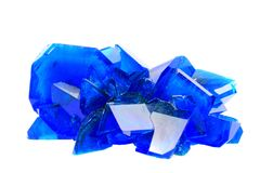 Blue vitriol mineral isolated Stock Image