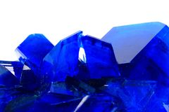 Blue vitriol mineral isolated Royalty Free Stock Photography