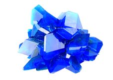 Blue vitriol mineral Royalty Free Stock Photography