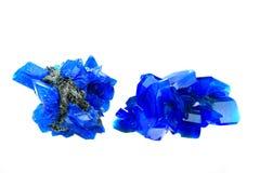 Blue vitriol mineral Royalty Free Stock Photo