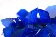 Blue vitriol mineral Royalty Free Stock Images