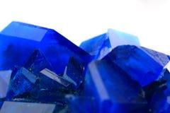 Blue vitriol mineral Stock Photos