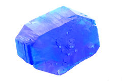 Blue vitriol mineral Stock Photography
