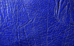 Blue  leather texture Royalty Free Stock Photography