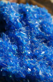 Blue Volcanic Crystal. Vivid blue crystal from mount Etna in Italy stock photos