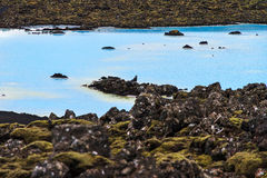Blue volcanic waters Royalty Free Stock Images
