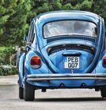 Blue Volkswagen Beetle Stock Photo