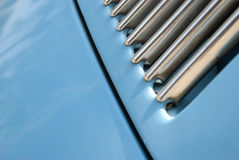Blue Volkswagen beetle 2. A light blue Volkswagen beetle grid Royalty Free Stock Images